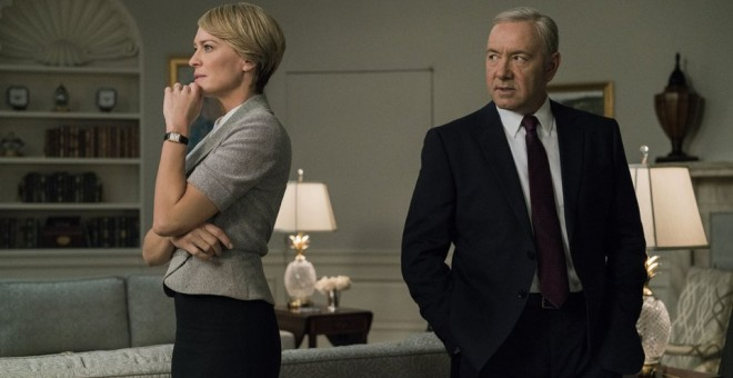 Los protagonistas de la serie 'House of Cards'.