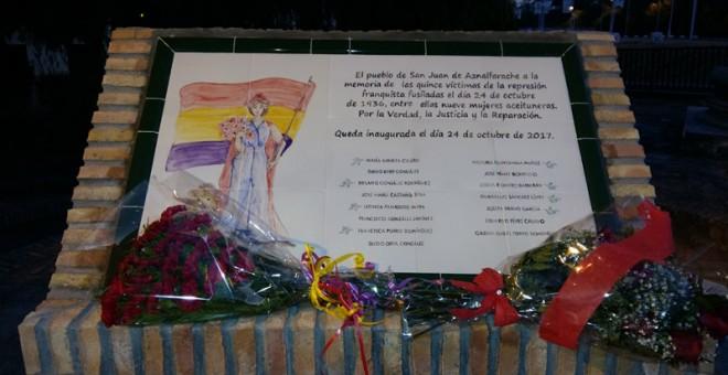 Mural de las nueve aceituneras de San Juan de Aznalfarache