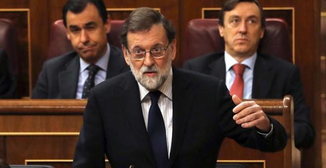 Rajoy interviene en el Congreso. | EFE