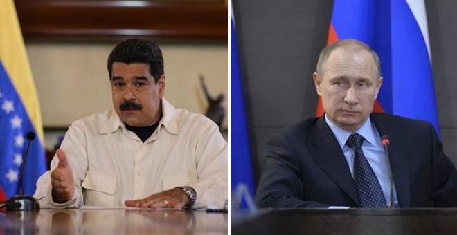 El presidente de Venezuela, Nicolás Maduro, y su homólogo ruso, Vladimir Putin.