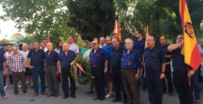 Fotografía del último homenaje franquista al 18 de julio en Lucena, en 2015. / Fuerza Nueva
