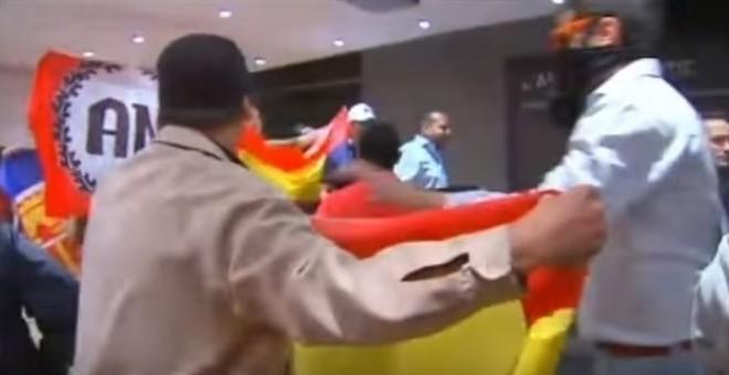 Imagen del asalto al centro cultural de Blanquerna. /EUROPA PRESS