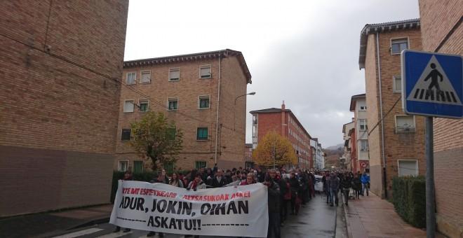 La localidad de Altsasu vuelve a salir a la calle para pedir justicia./PÚBLICO