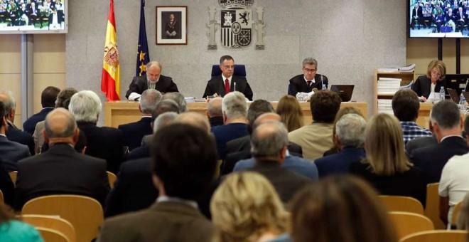 El tribunal del juicio en la Audiencia Nacional a la primera época de la Trama Gürtel. EFE