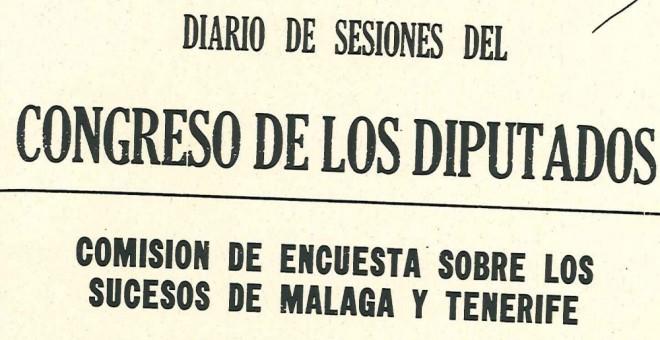 Portada de documentos oficiales del Congreso sobre el asesinato de Caparrós.