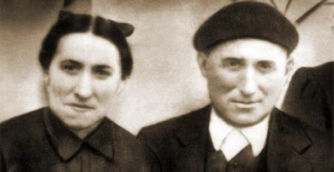 Frantsizka Lamarain y Pedro Telleria