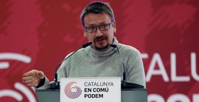 Xavier Domènech en campaña electoral