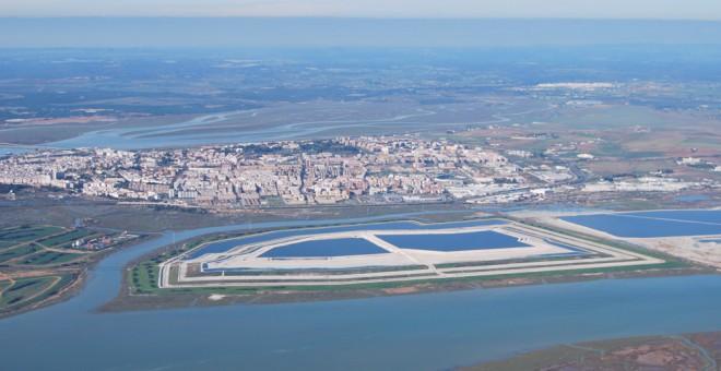 Vista de la ría de Huelva. /Pepe Cantó