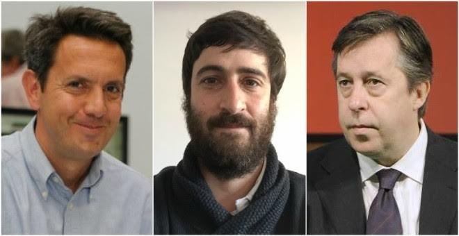 Los periodistas deportivos Juanma Trueba, Jordi Quixano y Santiago Segurola