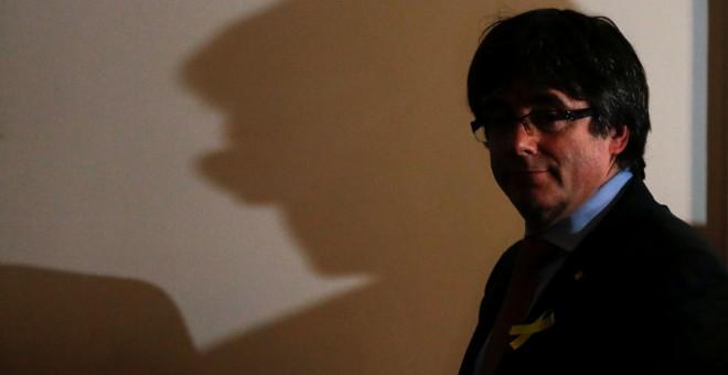 Puigdemont, en Bruselas tras su comparecencia. REUTERS/Francois Lenoir