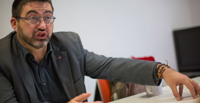 Carlos Sánchez Mato durante la entrevista./ CHRISTIAN GONZÁLEZ
