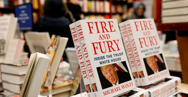 'Fire and Fury: Inside the Trump White House', el libro sobre la campaña electoral de Trump y su presidencia./REUTERS