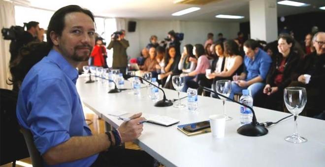 El líder de Podemos, Pablo Iglesias, durante un Consejo Ciudadano Estatal. EFE