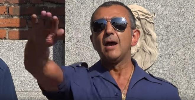 Jefe nacional de Falange, Manuel Andrino, que ese mismo día, 1 de noviembre, tendría que haber ingresado en prisión