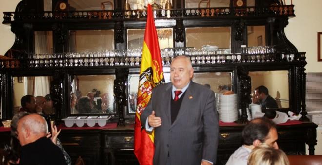 José Luis Corral en los Premios Círculos San Juan en el Casino Militar de Madrid.