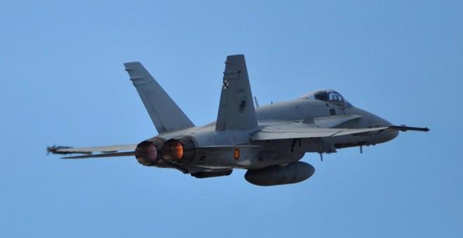 Un F-18 del Ala 12, con base en Torrejón (Madrid). EJÉRCITO DEL AIRE