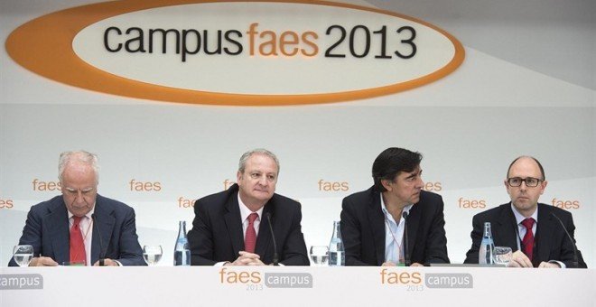 El entonces secretario de Estado de Justicia, Fernando Román, en el campus de la Fundación FAES. E.P.