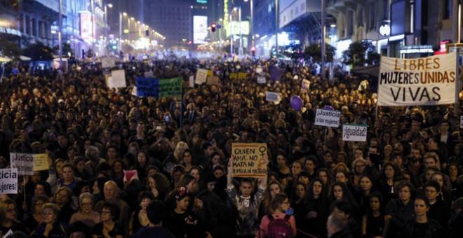 Imagen de la manifestación del 8 de marzo de 2017, en Madrid. EFE