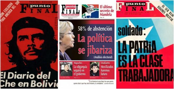 Algunas de las portadas de Punto Final2.