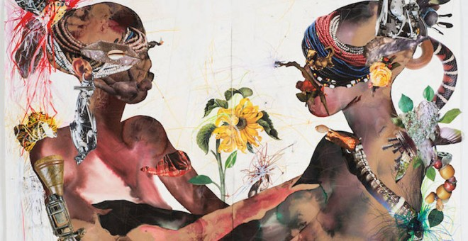 'You Are My Sunshine'.- Wangechi Mutu