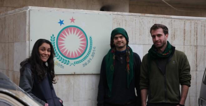 Sara de Ceano y los internacionales Rok Brossa (centro) y Jacopo Bindi (dcha). Sara Ainhoa de Ceano-Vivas Núñez