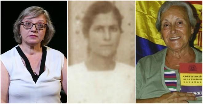 De izquierda a derecha: Rosa María García; Enriqueta y José; y Emilio Cañadas