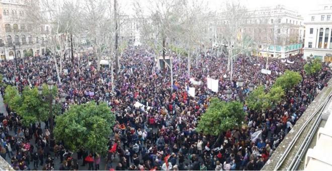 Manifestación en Sevilla. | D.C