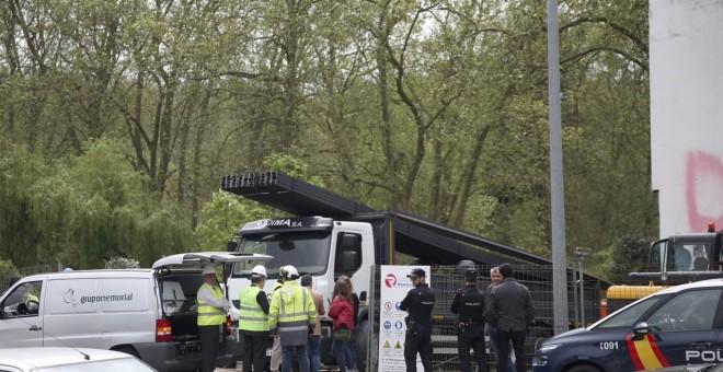 Escenario de un accidente laboral en Vigo. EFE