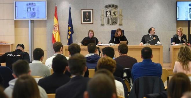 Juicio a los ocho acusados de agresión en Altsasu. EFE/Fernando Villar