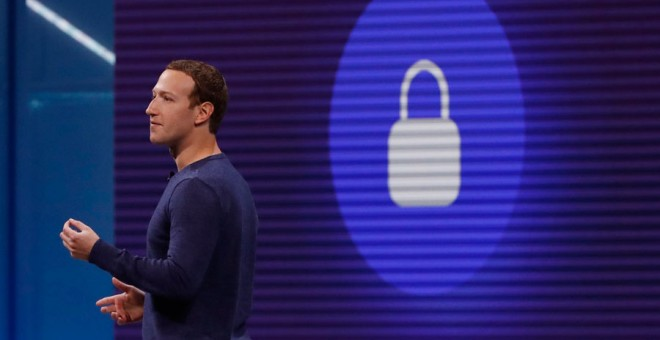 Zuckerberg, durante la conferencia de Facebook. REUTERS/Stephen Lam