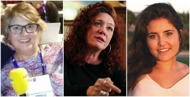 Mercè Alcocer, Cristina Fallarás y Natalia Díez, tres periodistas señaladas por la ley Mordaza.