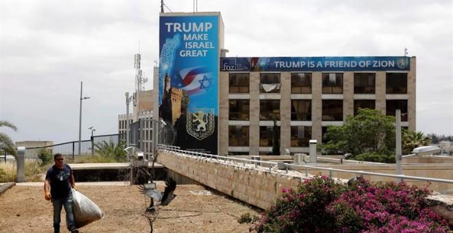 El consulado de EEUU en Jerusalén que albergará la embajada. / ABIR SULTAN (EFE)