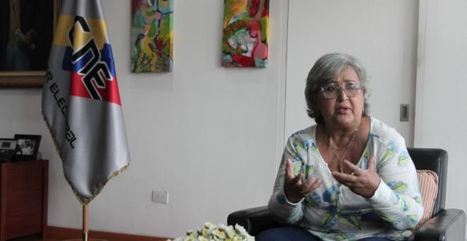 Tibisay Lucena, en una imagen del CNEV.