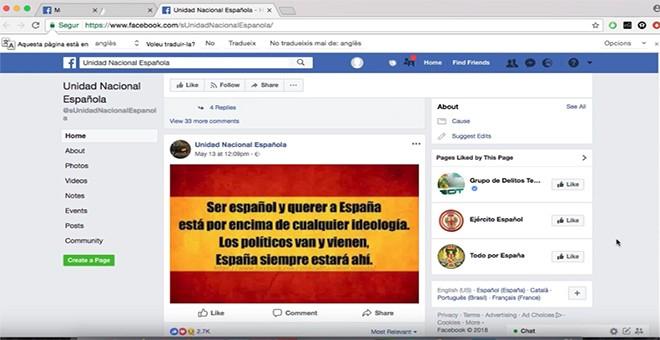 Cómo debe ser un español, según Unidad Nacional de España.