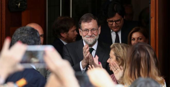 Rajoy abandona este viernes en el Congreso. REUTERS/Sergio Pérez