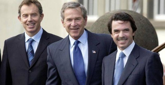 Tony Blair, George Bush y José María Aznar