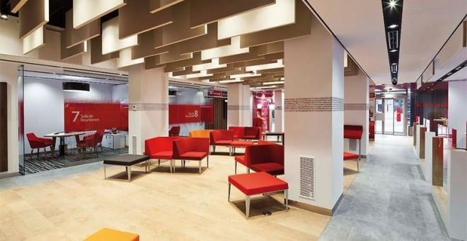 Santander el banco santander gan millones de euros for Oficinas banco de santander