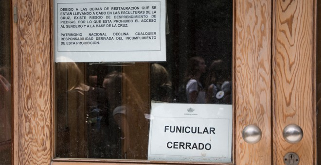 El funicular del Valle de los Caídos, cerrado al público. / J. GÓMEZ