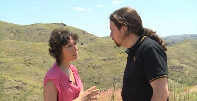Pablo Iglesias y Marta Nebot