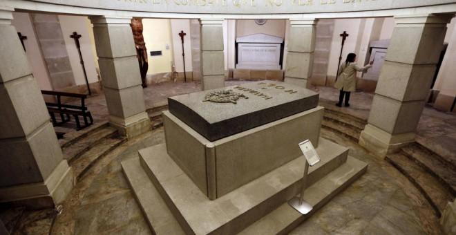 La cripta del Monumento a los Caídos donde se encontraba enterrado José Sanjurjo.- EFE
