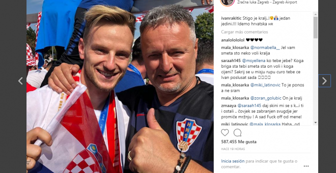 Rakitic junto a Thompson / Instragram de Iván Rakitic