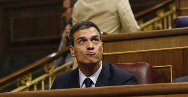 Pedro Sánchez en el Congreso. EUROPA PRESS