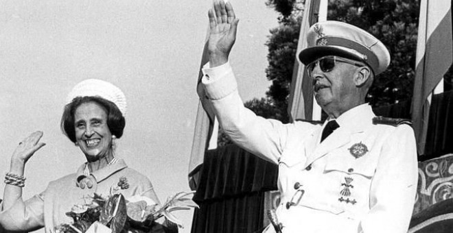 Francisco Franco y Carmen Polo.