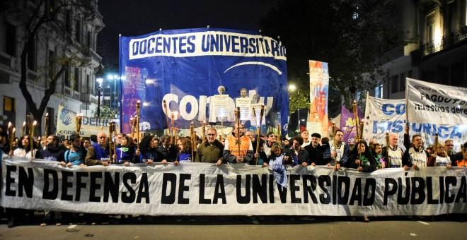 Marcha a favor de la universidad pública en Argentina. / Federacion Nacional de Docentes Universitarios (CONADU)