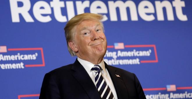 El presidente de EEUU, Donald Trump, durante un acto en Charlotte. /REUTERS