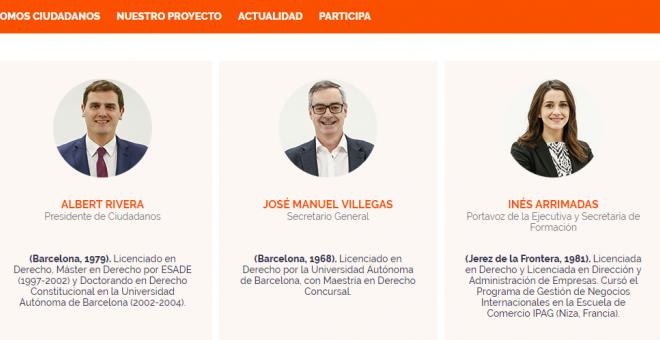 Página web de Ciudadanos