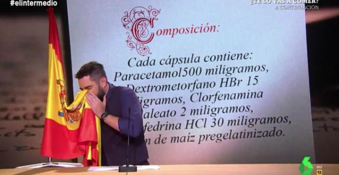 La Sexta retira el vídeo del gag de Dani Mateo sonándose los mocos en la bandera de España tras las críticas