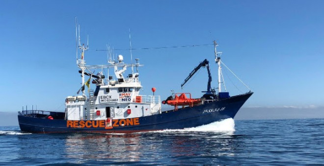 El barco Aita Mari, del proyecto Maydayterraneo.- MAYDAYTERRANEO
