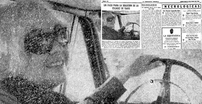 Página de 'La Vanguardia' con la noticia sobre la barcelonesa Margarita López Grau, fotografiada por Cifra en 1966.