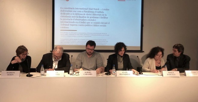 Presentació de la plataforma International Trial Watch - Catalan Referendum case / @InterTrialWatch